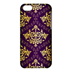 Flower Purplle Gold Apple Iphone 5c Hardshell Case by Mariart