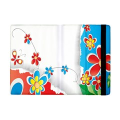 Flower Floral Papper Butterfly Star Sunflower Red Blue Green Leaf Ipad Mini 2 Flip Cases by Mariart