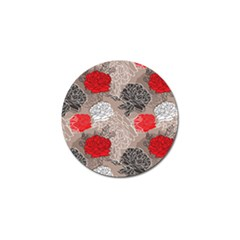 Flower Rose Red Black White Golf Ball Marker (4 Pack) by Mariart