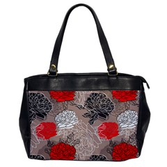 Flower Rose Red Black White Office Handbags by Mariart