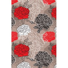 Flower Rose Red Black White 5 5  X 8 5  Notebooks by Mariart