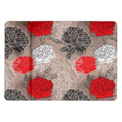 Flower Rose Red Black White Samsung Galaxy Tab 10 1  P7500 Flip Case by Mariart