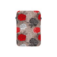 Flower Rose Red Black White Apple Ipad Mini Protective Soft Cases by Mariart