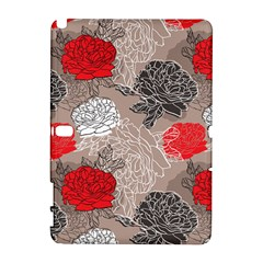Flower Rose Red Black White Galaxy Note 1 by Mariart