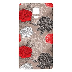 Flower Rose Red Black White Galaxy Note 4 Back Case by Mariart