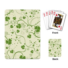 Flower Green Shamrock Playing Card