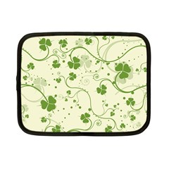 Flower Green Shamrock Netbook Case (small)  by Mariart
