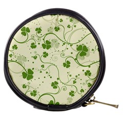 Flower Green Shamrock Mini Makeup Bags by Mariart