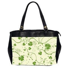 Flower Green Shamrock Office Handbags (2 Sides)  by Mariart