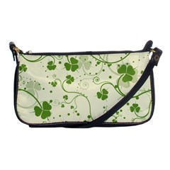 Flower Green Shamrock Shoulder Clutch Bags by Mariart