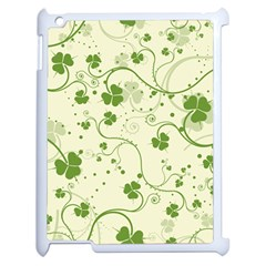 Flower Green Shamrock Apple Ipad 2 Case (white) by Mariart