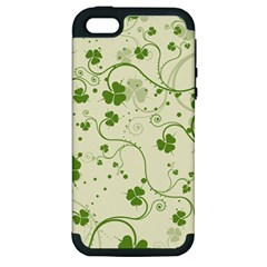 Flower Green Shamrock Apple Iphone 5 Hardshell Case (pc+silicone) by Mariart