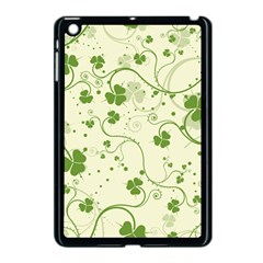 Flower Green Shamrock Apple Ipad Mini Case (black) by Mariart