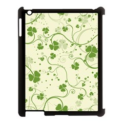 Flower Green Shamrock Apple Ipad 3/4 Case (black) by Mariart
