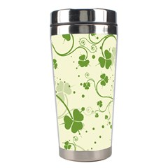 Flower Green Shamrock Stainless Steel Travel Tumblers by Mariart