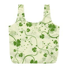 Flower Green Shamrock Full Print Recycle Bags (l)  by Mariart
