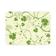 Flower Green Shamrock Double Sided Flano Blanket (mini)  by Mariart