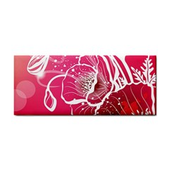 Flower Red Sakura Pink Cosmetic Storage Cases by Mariart