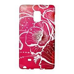 Flower Red Sakura Pink Galaxy Note Edge by Mariart