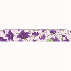 Flower Sakura Star Purple Green Leaf Small Bar Mats by Mariart
