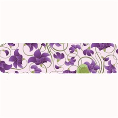 Flower Sakura Star Purple Green Leaf Large Bar Mats by Mariart