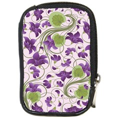 Flower Sakura Star Purple Green Leaf Compact Camera Cases by Mariart