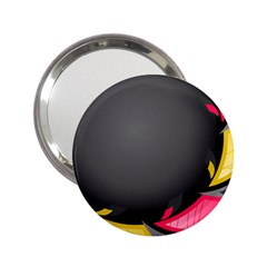 Hole Circle Line Red Yellow Black Gray 2 25  Handbag Mirrors by Mariart
