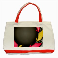 Hole Circle Line Red Yellow Black Gray Classic Tote Bag (red) by Mariart