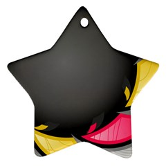 Hole Circle Line Red Yellow Black Gray Star Ornament (two Sides) by Mariart