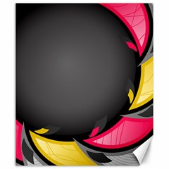 Hole Circle Line Red Yellow Black Gray Canvas 20  X 24   by Mariart