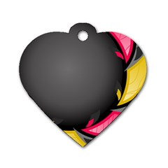Hole Circle Line Red Yellow Black Gray Dog Tag Heart (two Sides) by Mariart