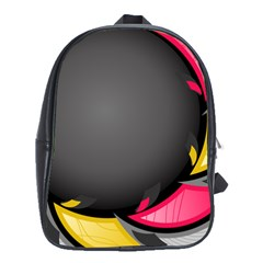 Hole Circle Line Red Yellow Black Gray School Bags(large)