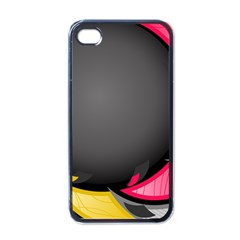 Hole Circle Line Red Yellow Black Gray Apple Iphone 4 Case (black) by Mariart