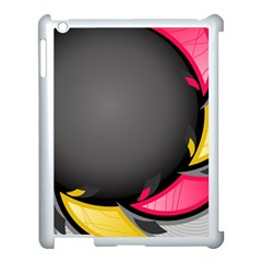 Hole Circle Line Red Yellow Black Gray Apple Ipad 3/4 Case (white) by Mariart