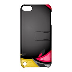 Hole Circle Line Red Yellow Black Gray Apple Ipod Touch 5 Hardshell Case With Stand by Mariart