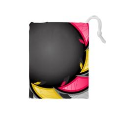 Hole Circle Line Red Yellow Black Gray Drawstring Pouches (medium)  by Mariart
