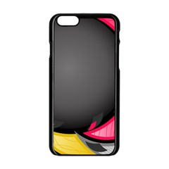 Hole Circle Line Red Yellow Black Gray Apple Iphone 6/6s Black Enamel Case by Mariart
