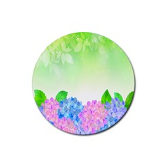 Fruit Flower Leaf Rubber Coaster (round)  by Mariart