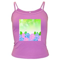 Fruit Flower Leaf Dark Spaghetti Tank by Mariart