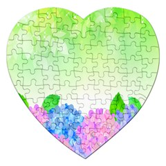 Fruit Flower Leaf Jigsaw Puzzle (heart) by Mariart