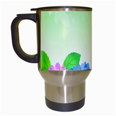 Fruit Flower Leaf Travel Mugs (white) by Mariart