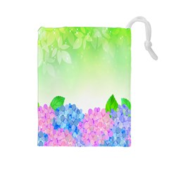 Fruit Flower Leaf Drawstring Pouches (large)  by Mariart