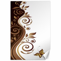 Leaf Brown Butterfly Canvas 20  X 30   by Mariart