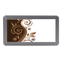 Leaf Brown Butterfly Memory Card Reader (mini) by Mariart