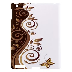 Leaf Brown Butterfly Apple Ipad 3/4 Hardshell Case by Mariart