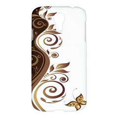 Leaf Brown Butterfly Samsung Galaxy S4 I9500/i9505 Hardshell Case by Mariart