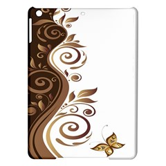Leaf Brown Butterfly Ipad Air Hardshell Cases by Mariart