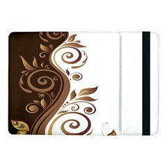 Leaf Brown Butterfly Samsung Galaxy Tab Pro 10 1  Flip Case by Mariart
