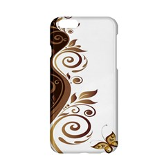 Leaf Brown Butterfly Apple Iphone 6/6s Hardshell Case by Mariart