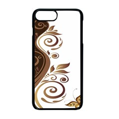 Leaf Brown Butterfly Apple Iphone 7 Plus Seamless Case (black)